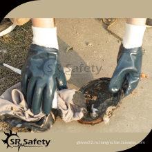 Лучшие нитриловые перчатки трикотажа / тяжелая перчатка / синяя нитриловая перчатка