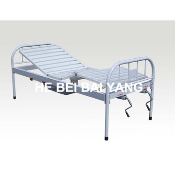 a-190 All Plastic-Sprayed Bouble Function Manual Hospital Bed