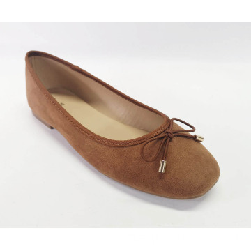 Frauen Ballett Bowknot Square Toe Soft Flats