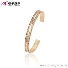 51382 Xuping простой золотой покрытием из нержавеющей стали браслет манжеты браслет со множеством маленьких драгоценных