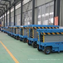 Agente de precios de alta calidad elevador de tijera hidráulico móvil