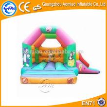 Diseño de dibujos animados bouncer de salto inflable, casa de rebote simple minion trampolín