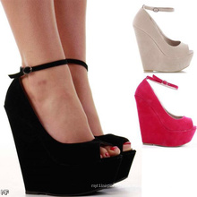 Classical Fashion High Heel Wedge Lady Shoes (H 62)