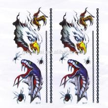 Autocollants provisoires non-toxiques de tatouage d'Eagle Spider d'araignée de haute qualité de 3D avec la conception puissante
