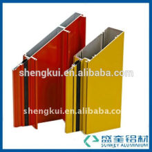 aluminium profile manufacturer with colourful powder coating for selling aluminum profile for windows in Zhejiang China