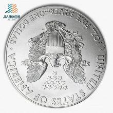 Горячая Распродажа Тиснение Логотипа Металл Ремесло Рекламно Сувенирная Серебряная Монета