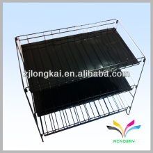 Good quality free standing kitchen outdoor non-stick 2 tiers metal wire bbq grill rack