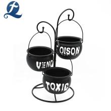 Высокое качество круглый подвесной черный обеденный стол керамическая миска