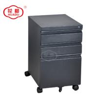 Mobile pedestal drawer storage under office desk