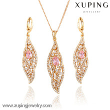 63600 Hot sale Party Needs Woman Gold Plated Jewelry Set with Zircon