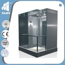 Speed 1.0m/S Machine Room Stainless Steel & Glass Panoramic Elevator