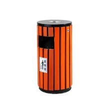 Reciclaje de madera Eco-Friendly Cubo de basura al aire libre de la basura (A13280)