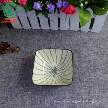 Bandeja de cerámica porcelana snack bowl, plato de aperitivo, chip y dip bowl