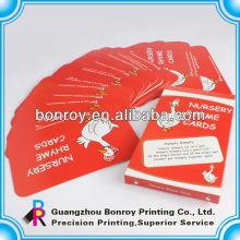 tarjetas de memoria educativas de papel de impresión