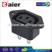 Enchufe eléctrico del zócalo de la corriente ALTERNA Conector eléctrico de 110 voltios / magnético
