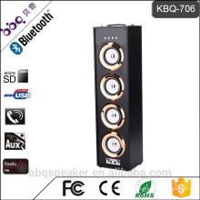 BBQ KBQ-706 Metall attanna UKW-Radio 40W Holz Bluetooth-Lautsprecher mit Fernbedienung