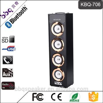 BBQ KBQ-706 Metal attanna FM radio 40W madera altavoces bluetooth con control remoto