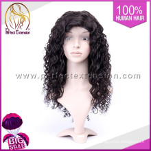 Wholesale 12 Inch Curly Human Hair Full Indian Virgin Lace Wig