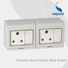 Saipwell Высококачественный переключатель для поверхностного монтажа и розетка для Южной Африки