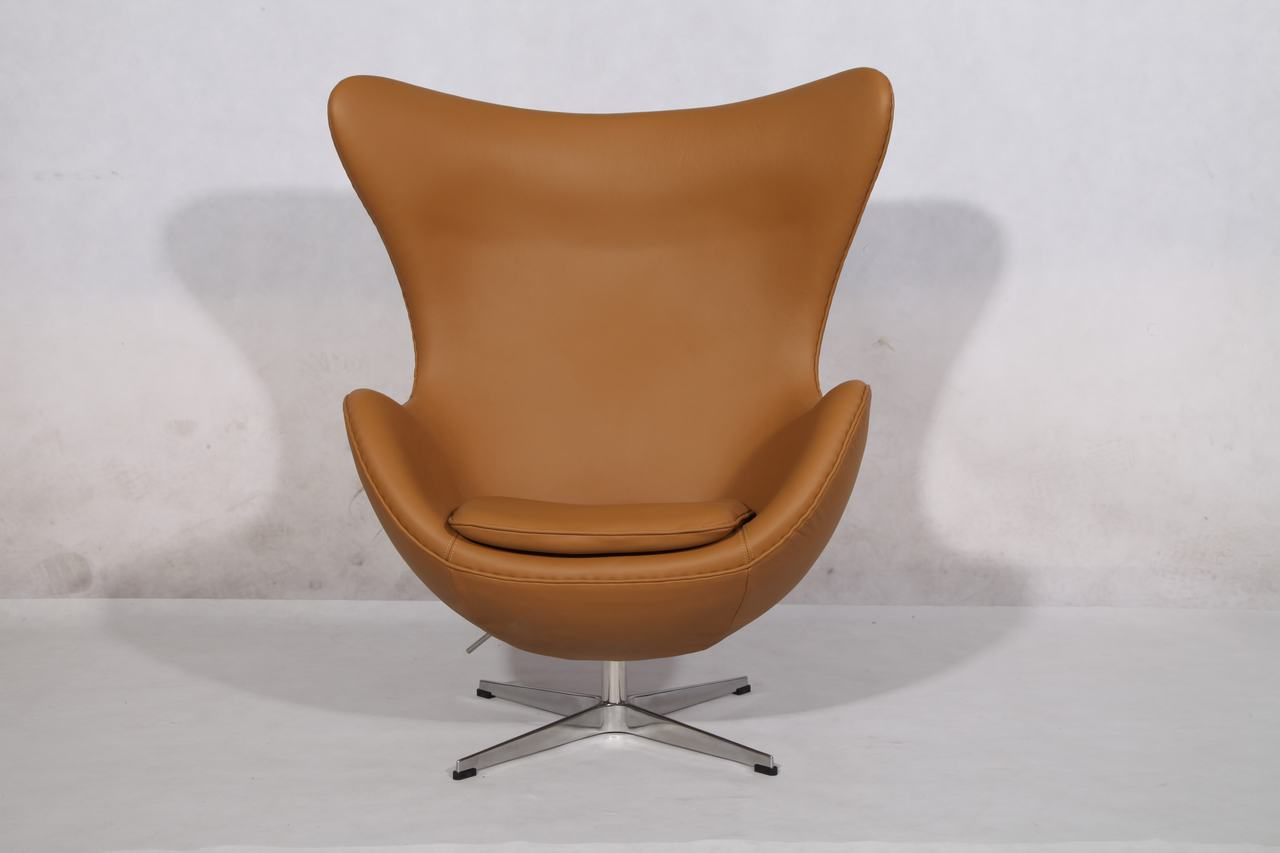 Tan egg chair