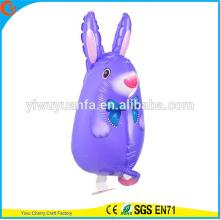 Conejo lindo del globo de la hoja del juguete del globo del animal doméstico del paseo del diseño lindo para el regalo del niño