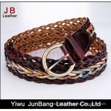 Women′s German Bond Braided Leather Belt
