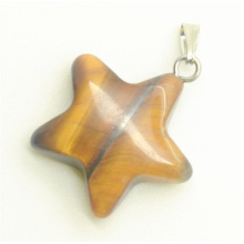 Star Shape Yellow Tiger eye pendant