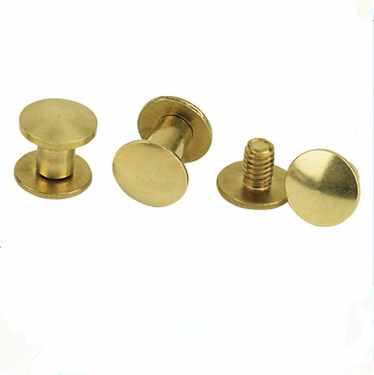 Brass Plated Steel Male Female Chicago Binding Post Book Screw