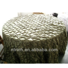 Cheap wedding pinwheel taffeta table cloth, table cover