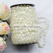 Acrylic Roll Faux Pearl Beaded Garland for Wedding Tree Decoration