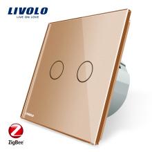 Livolo ZigBee Home Automation Applique murale Interrupteur intelligent Zigbee Touch VL-C702Z-13
