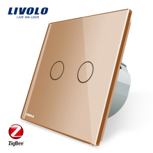 Livolo ZigBee Домашняя Автоматика Настенный Светильник Zigbee Touch Smart Light Switch VL-C702Z-13