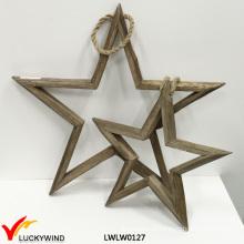 Винтаж Декоративные Висячие Деревянная Звезда Домашнее Украшение