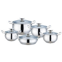 Stainless Steel Apple Shape Casserole With Glass Lid