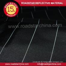 gehobenen schwarz Polyester-Gewebe mit reflektierenden thread