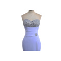 New Arrival Linen Fabric Women Evening Dress MIDI Wrap Dress