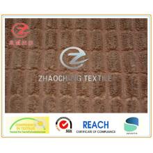 Tissu contrecollé en velours côtelé N / P style maïs 2,5 W (ZCCF045)