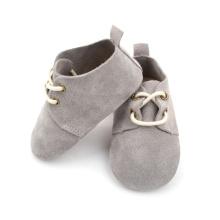 Echtes Wildleder Grau Baby Oxford Schuhe Großhandel