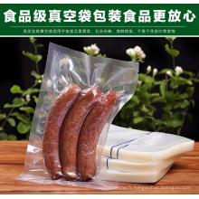 Sacs en plastique spécial à vide à la viande