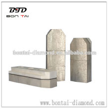 Metal bond diamond sectors 130mm in size for honing granite