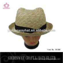 Chapéu personalizado de palhaça de palha com design de urso