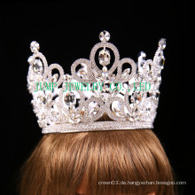 Braut Rhinestone Tiara Silber Ton klar Kristall Krone