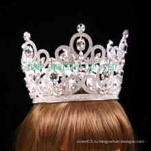 Свадебный Rhinestone тиара серебряный тон прозрачный Кристальная корона