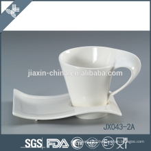 043-2A32 180CC Ceramic coffee cup and saucer