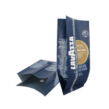Coffee Rice Packaging Bag Zip-Lock Reusable Plastic Packaging Nut Printed Packaging Resealable Plastic Coffee Bag with Valve