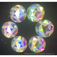 Star Shape Flat Back Ab Color Stones Beads with Holes
