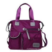 Customized  Tote Shopping Bag  Women Fashion Casual Yellow Waterproof Shoulder handbag tote bag