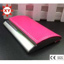 Titulaire de la carte de nom en PU de couleur rose (XTY-mxl91801)