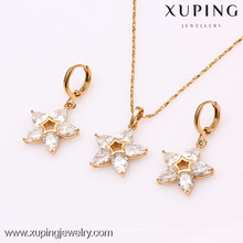 61915- Xuping CZ stone jewellery star shaped diamond set