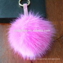 One Piece Wholesale Key chain Decoration Fur Pom Pom Key Chain Gift Key Ring Present